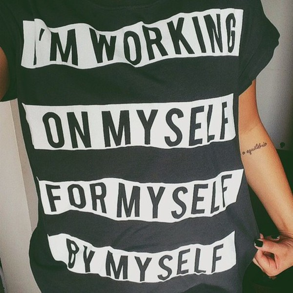 t-shirt selfie shirt printed shirt shirt black and white shirt quote on it zara quote on it fitness black new years resolution blouse print quote on it quote on it graphicshirt badass girl shirts confidence words on shirt graphic tee