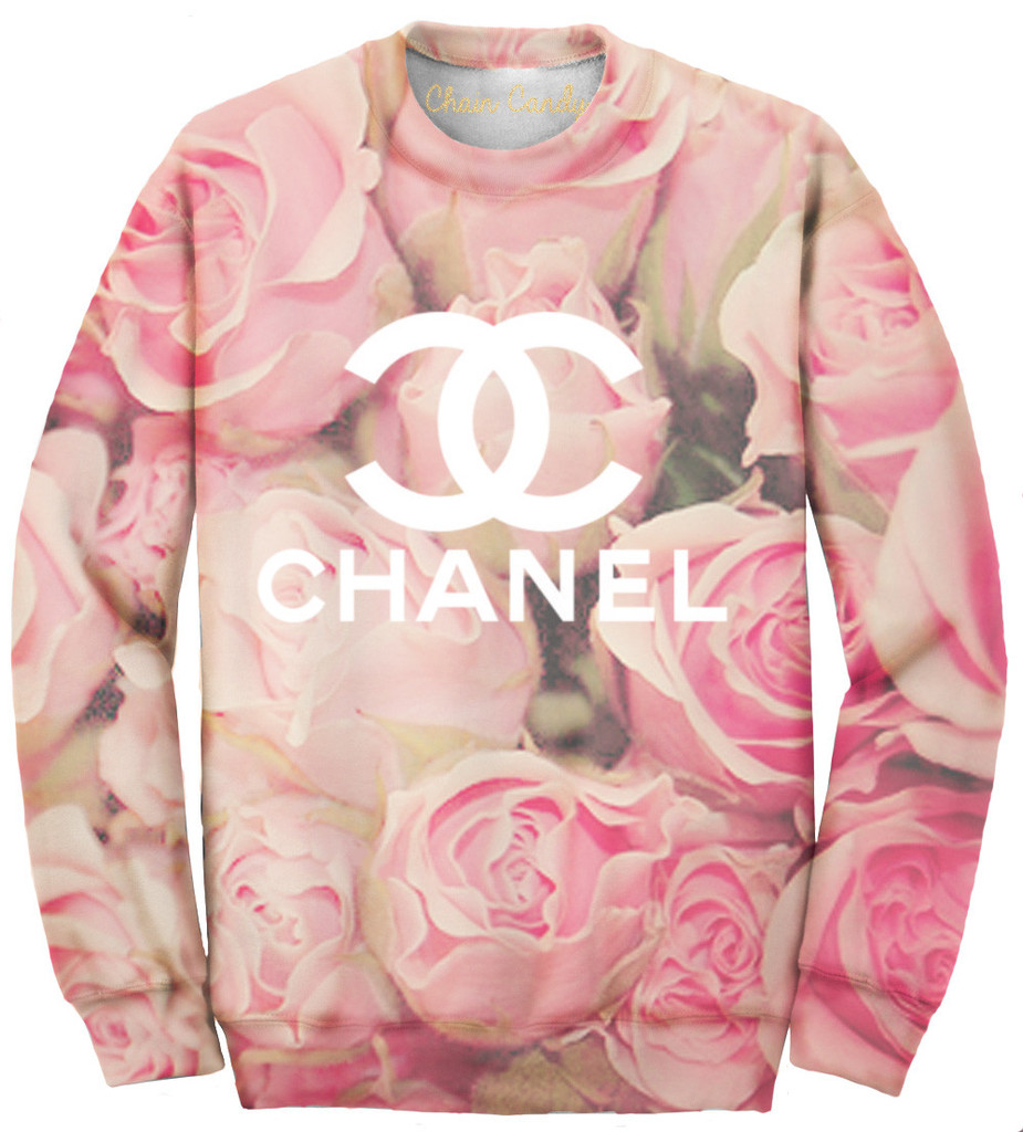 Oversized Rose Allover Print Sweatshirt