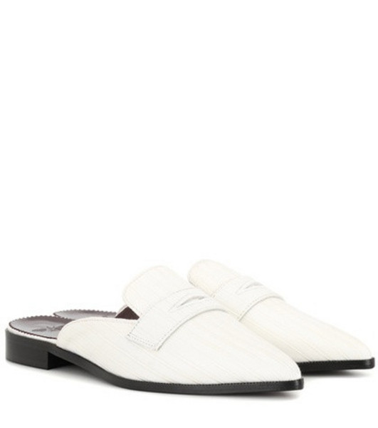 Bougeotte Satin mules in white