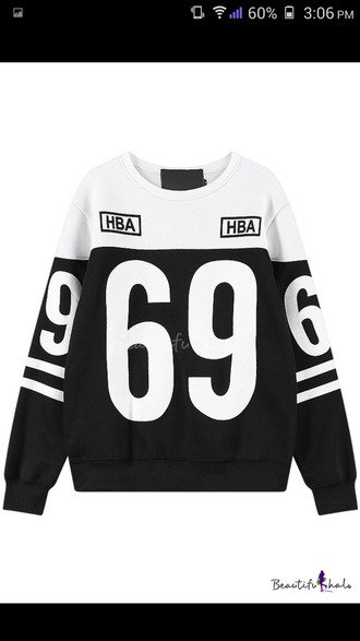sweater black sweater white sweater 69 idk ilikeit i'm so bored
