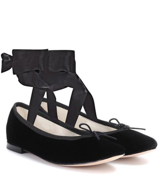 Repetto velvet black shoes