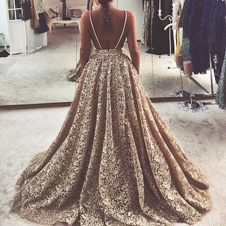dress prom vintage black gold spegehtti strap princess dress zipper dress floral lace dress lace full skirt ball gown dress feminine floor length dress flowy sleveless dress sleveless gold dress gold lace prom dress wedding dress