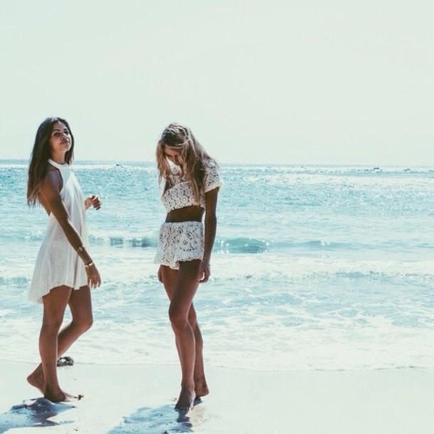 dress summer white white dress girl