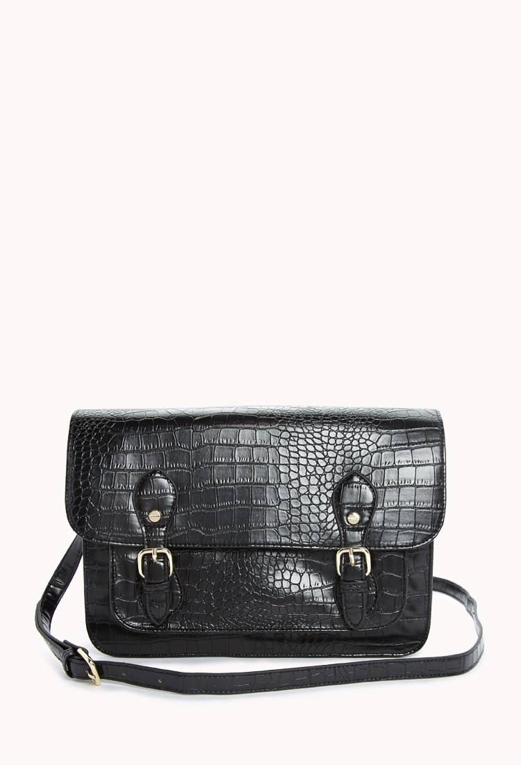 Luxe Faux Croc Satchel | FOREVER21 - 1000074155