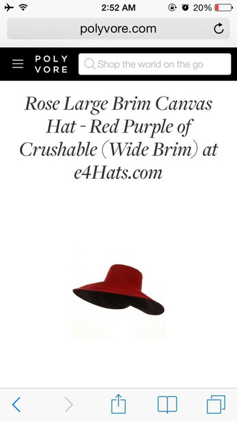 hat red large brimmed hat