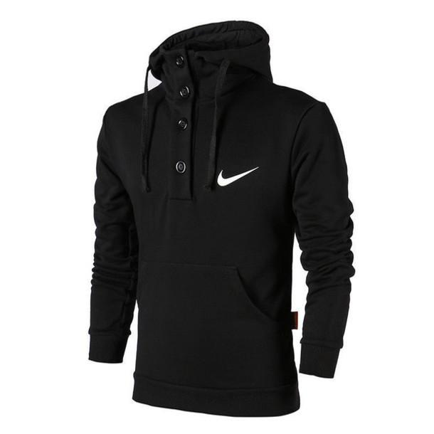 sweater, nike men sweatshirt, black, black hoodie, nike ...
