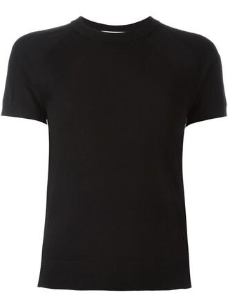 t-shirt shirt knit women classic black top