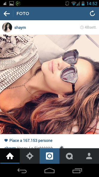 sunglasses glass beautiful shay mitchell pretty littlr liars pretty little liars emily fields wow sun sunglasess fashion cool vogue mode