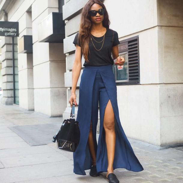 symphony of silk blogger pants t-shirt bag jewels