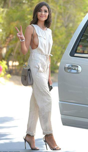 jumpsuit pants top sandal heels sandals coachella coachella outfit olivia culpo