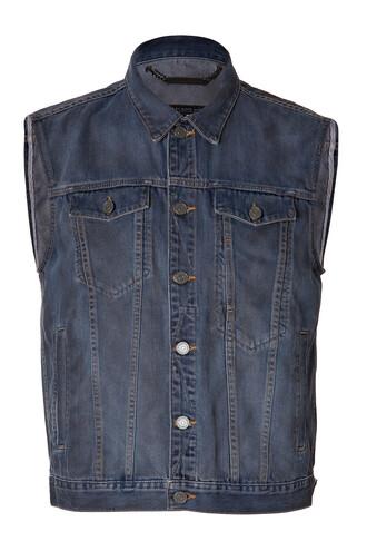 vest jean vest blue jacket