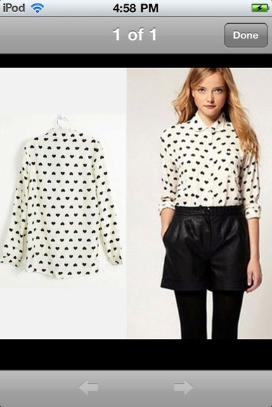 hearts blouse black hearts black and white blouse black and white
