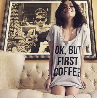 t-shirt vanessa hudgens instagram monday sunday coffee