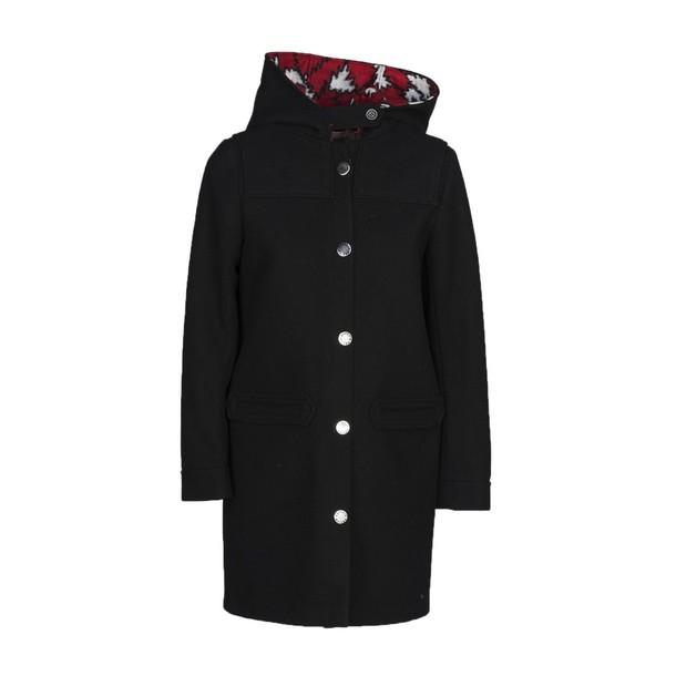 kitsuné jacket hooded jacket black