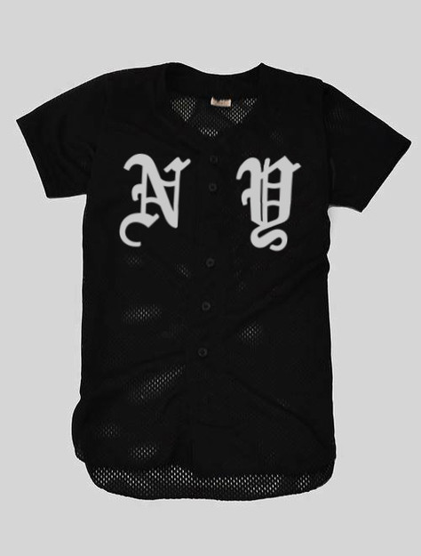 NY Old English Baseball Jersey Small | KYC Vintage ($11.00) - Svpply