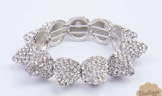 Pave spike bracelet