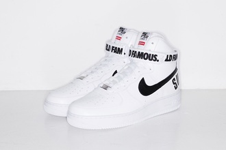 shoes nike sneakers supreme nike air force 1 sneakers nike air