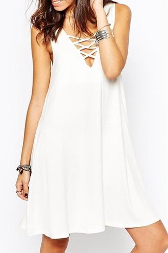 dress white white dress casual hippie hipster boho boho chic streetwear criss cross fall outfits jacket