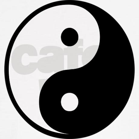 Yin yang symbol jumper on cafepress.com