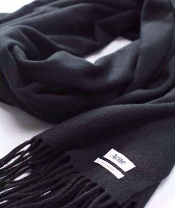 scarf black scarf acne studios