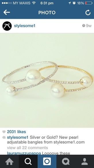 jewels bangles bracelets pearls diamonds