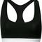 Calvin klein - logo thong - women - cotton/modal/spandex/elastane - l, black, cotton/modal/spandex/elastane