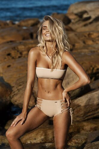 swimwear bikini bikini top bikini bottoms high waisted high waisted bikini lace up lace up top nude top reversible cheeky cheeky bikini bikiniluxe nude swimwear tan nude sneakers all nude everything top perfect peach bandeu