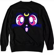sweater,sailor moon,luna,cats,japan,anime