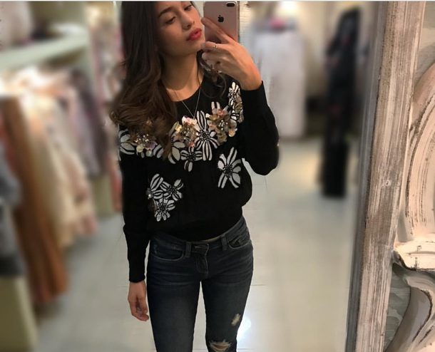 sweater floral sweater