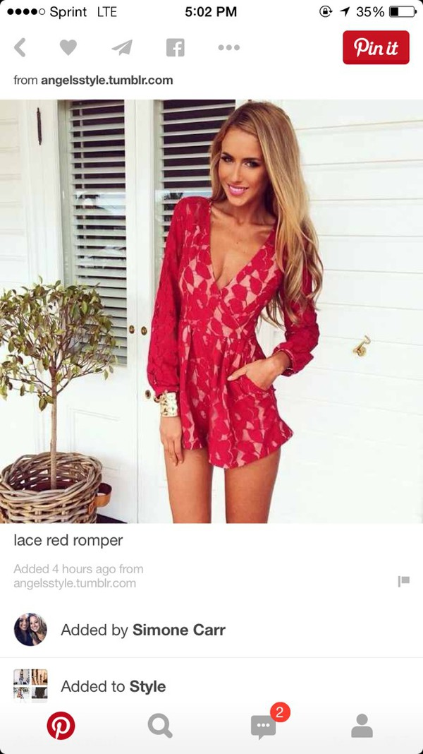 9f2445250ff romper lace dress red dress red jumpsuit nude dress petals long sleeves.