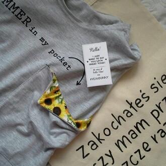 t-shirt yeahbunny pocket