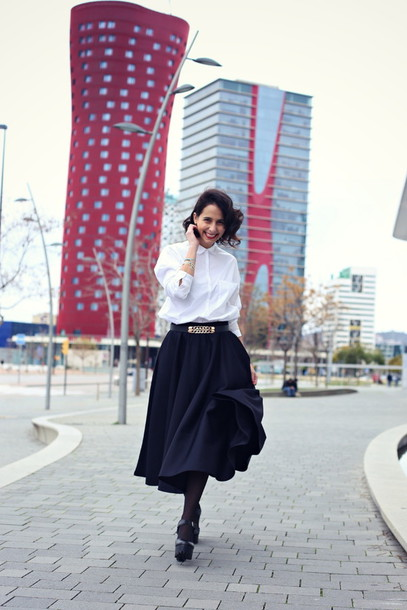 style in lima blouse belt skirt shoes jewels