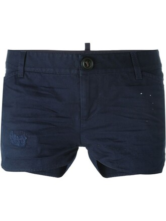 shorts distressed shorts blue