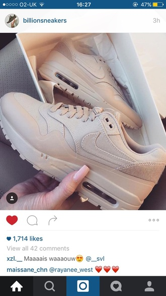shoes air max beige nike nude sneakers khaki pretty nude sneakers air max nike air max thea tan