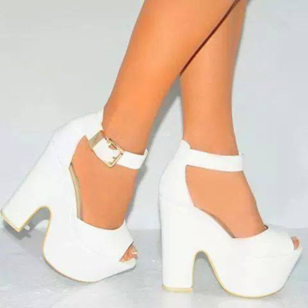 cd911da1d3df shoes style heels cute white party shoes party outfits platform high heels  high heels girly