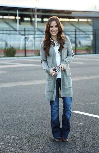 dress corilynn blogger jeans cardigan
