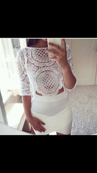 shirt white lace classy fancy love style