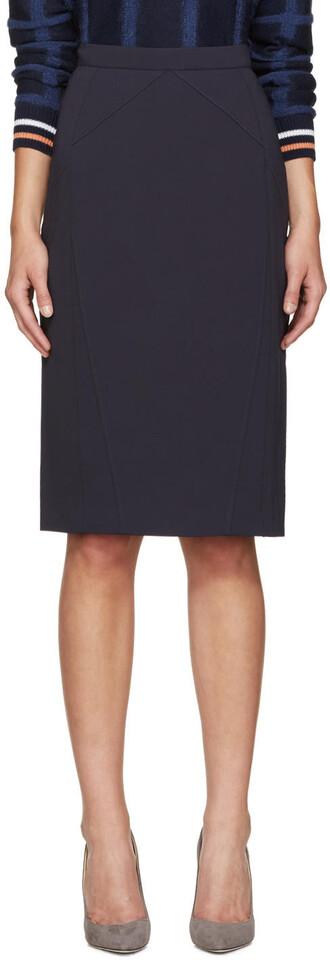 skirt pencil skirt navy