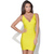 Women 039 s Sexy Neon Yellow Bandage V Neck Bodycon Cocktail Evening Party Dress | eBay