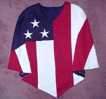 Old glory gifts: american flag poncho kids, u s flag clothing