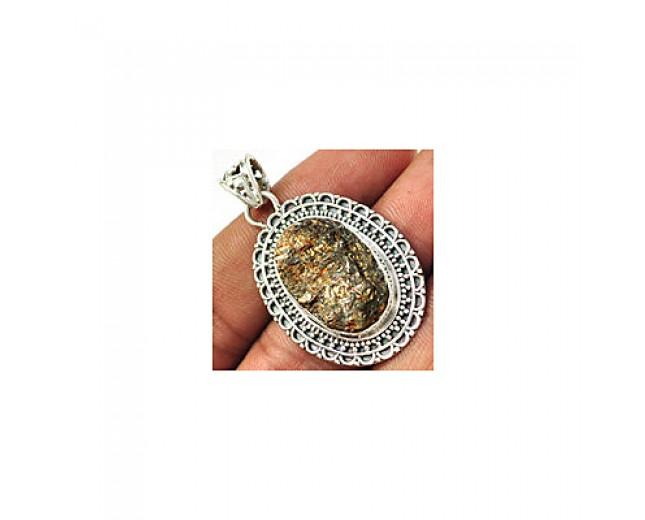 Handmade 925 Sterling Silver Astrophyllite Pendant
