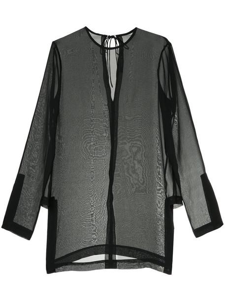 KITX top sheer top sheer women black silk