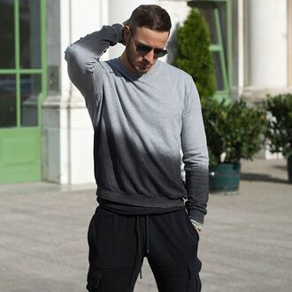 top maniere de voir sweater jumper sweatshirt dip dyed ombre ripped