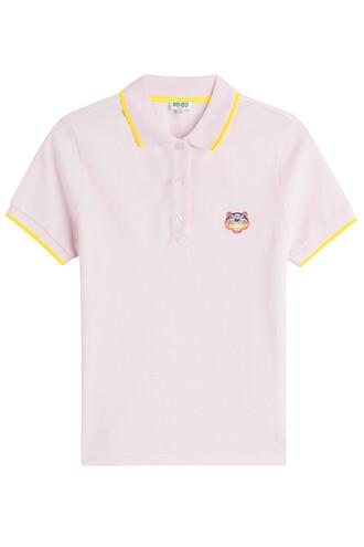 shirt polo shirt cotton rose top