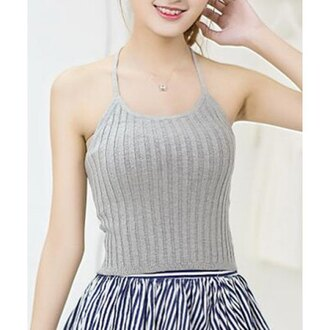 top grey knitwear casual trendy cute style girly rose wholesale-ap