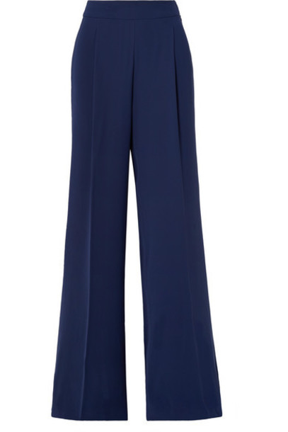 pants wide-leg pants navy