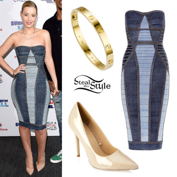 iggy azalea denim dress dress