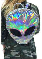 bag,alien,love,backpack,holographic bag,holographic