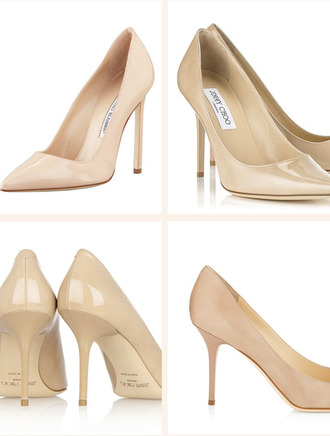 shoes patent shoes nude heels