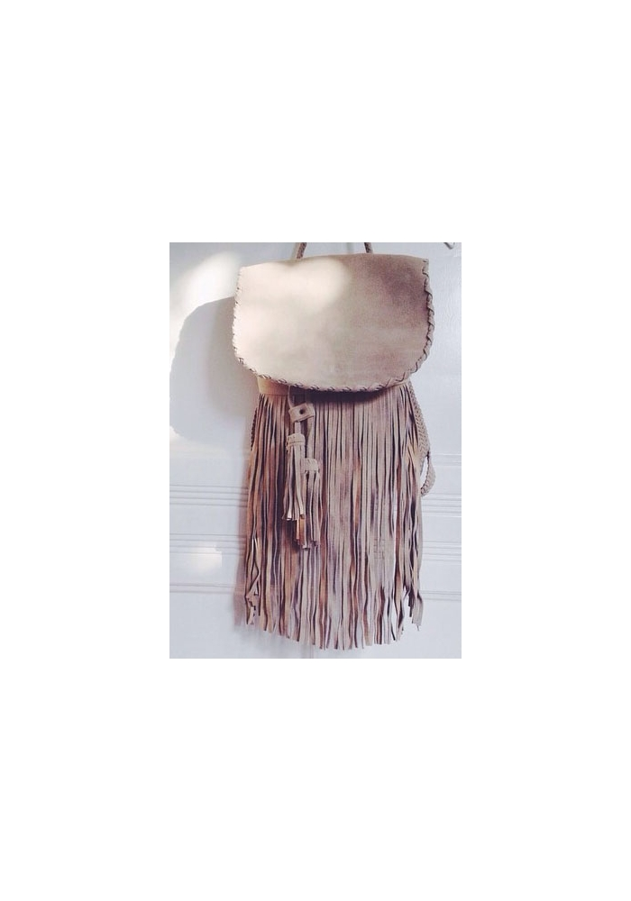 The Boho Bazaar | Shop | Fringe backpack in cream - boho style bags,accessories and clothes